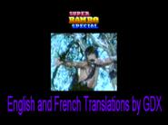 Super Rambo Special en inglés y francés