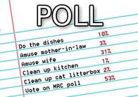 Konami cartridges poll down, #msxdev Compo 2012 poll up