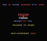 MSXdev'17 #8 - Draconic Throne