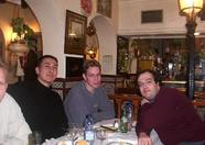 MadriSX 2004 - A day before the fair, Sunrise, MRC and several Spanish MSX users had a nice diner in a restaurant