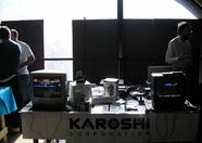 At the Karoshi booth you could play their MSXDev entries and play Duck Hunt with NES laser guns