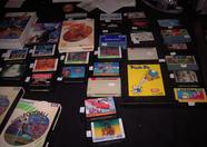 The stack of second hand MSX software was a very popular shopping place