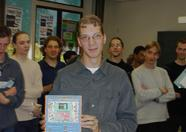 Quiz winner Niels Lukens won a special MSX-Fan disk