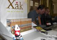 XAK 1 English at the Delta Soft stand