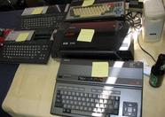 Second hand MSX computers (some in not-so-mint condition) on sale at the MRC