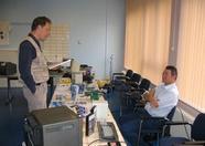 Frans Pansier (HCC) talking to Rinus Stoker (MSX Worldwide)