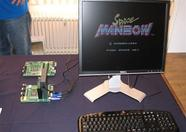 Space Manbow running on the One Chip MSX.
