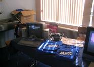 X-Tazy and MSX T-Shirts on the msx.org booth