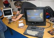 Laurens Holst (Grauw), the Bussum organizer on the TNI booth where the 1 Chip MSX and Manbow 2 game were demonstrated
