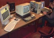 Cross-developing was tolerated. One PC and two MSX computers in a row.