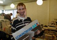 Dimitri holding a Japanese Commodore C64