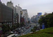 An overview of a street in Ueno.