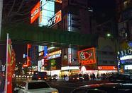 Fancy neon lights in Akihabara.