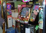 A better view on the Dance Dance Revolution machine.