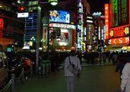A stranger wandering through Tokyo by night.