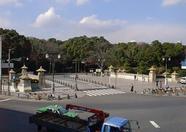 The bridge leading to the Meiji shrine.