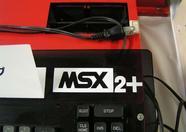 A closeup of the ASCII MSX2+ prototype