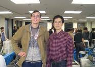 Bernard posing with the man behind MooSoft