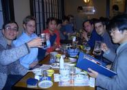 After the fair, many MSX users went to a place called 'Beer station'. There was sake and food too ;)