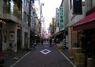 A typical Tokyo shopping street
