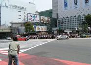 People waiting to get into Shibuya