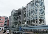 The impressive building of Fuji Television