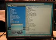 MSXVIEWer and MSXCG in action