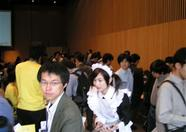 And then, somewhere behind the crowd is where the MSX Association stand should be...