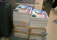 Shosen Book Tower were giving away free MSX Mouse pads with MSX Magazines. They had multiple piles of MSX magazines lying around in their store