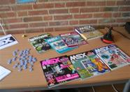 A few Japanese MSX magazines on display