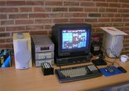 Erik's 8280 and stereo, which was playing MSX music all day