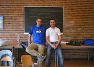 Two happy MSX Club Groningen organizers: Sander and Erik.