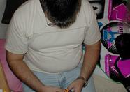 Marcelino playing beatmania