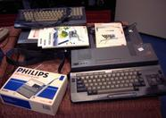 Philips VG8235, Philips NMS8280 and a nice barcode reader (collectors item!)
