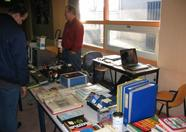 Mr. Kalkwiek of MSX Club West-Friesland selling loads of 2nd hand goodies.