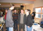 Fuzzy Logic reunion part 2: Maarten van Strien (Wolf), looking down to Roman van der Meulen (Shadow/ro) and Alex van der Wal (Savage)