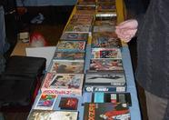 The MSX Resource Center stand in the early morning. 67 rare Japanese MSX games, and they're all for sale!