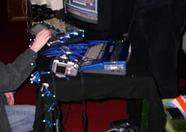 The DarkStone stand featured 2 casemodded MSX computers. Their recent release 'Bounce Mania' was demonstrated and sold during the fair.