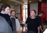 Marcel (on the right) explaining things to Maarten van Strien (Wolf)