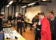 Welcome to Tilburg! An overview of the room in which the MRC, Sargon, Deltasoft, B. Roos and rklok had a booth.