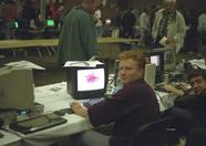 A quick peek behind the Fony booth at Zandvoort 1995